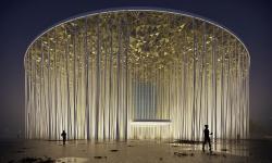 Nové divadlo v Číně si bralo inspiraci z bílých bambusových stonků