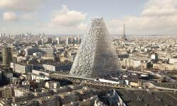 V Paříži roste další skvost. Má tvar trojúhelníku a je celý ze skla!