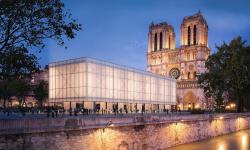 Katedrálu Notre-Dame bude nově doprovázet také pavilon pro trhy a bohoslužby
