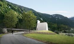 Na jihovýchodě Švýcarska se staví kaple, která poslouží turistům k výhledu po okolí