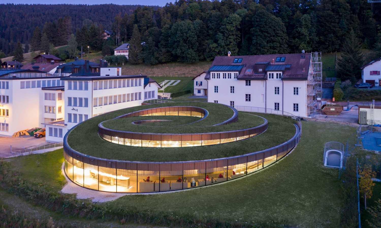 Dům ve tvaru spirály vyrost ve švýcarském městě Le Brassus