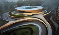 Zaha Hadid Architects staví v Číně kouzelné konferenční centrum