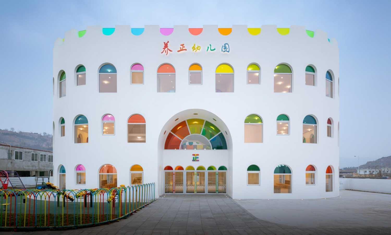 Mateřská školka v Tianshui dostala podobu narozeninového dortu