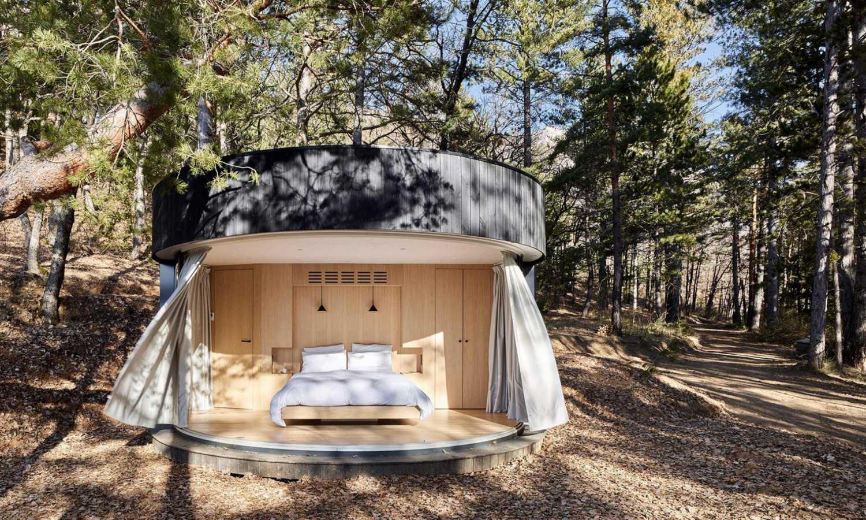 Uprostřed alpské přírody se nyní nachází ubytování pro cestovatele