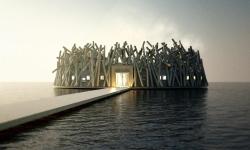 Ve Švédsku se staví úchvatné plovoucí lázně