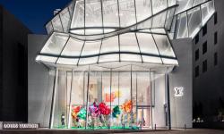 Pomačkaná skleněná střecha se stala symbolem nového obchodního domu v Soulu