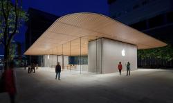 Točivé schodiště a lavičky z balvanů, to je nový Apple Store v Číně