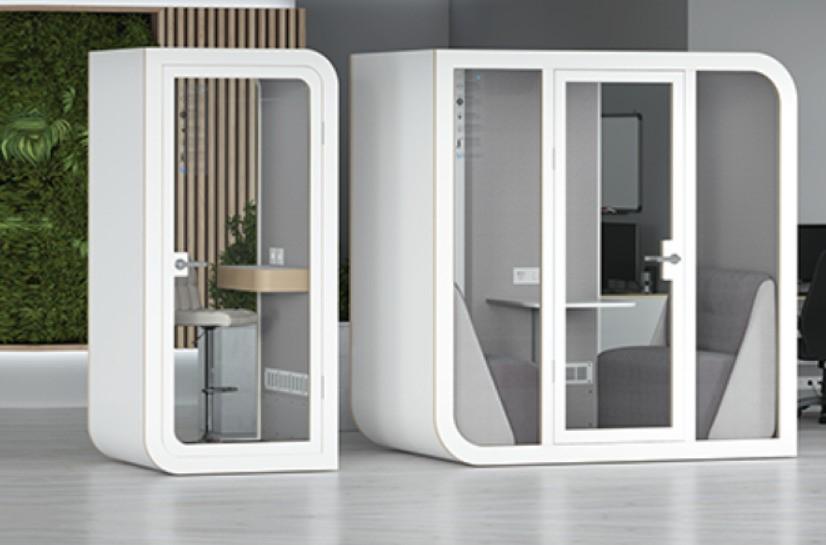 Chytré kancelářské prostředí s akustickými budkami Silentbox