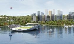 """Stockholm pokračuje ve své modernizaci. Tu nám představují nové byty i """"plovoucí"""" sportovní hřiště"""