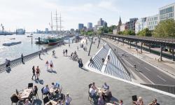 Hamburk dokončil výstavbu protipovodňové bariéry. Výsledek je skvostný